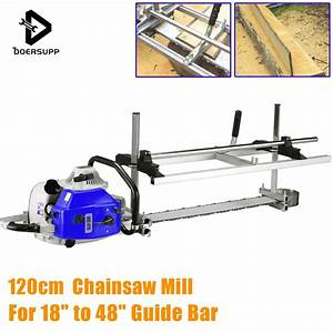 Doersupp 120cm Portable Chainsaw Mill Planking Milling