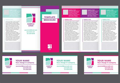 business fold brochure vector   vector art