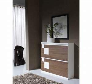 meuble a chaussure moderne 3404 With miroir a poser sur meuble 11 meuble rangement chaussures industriel bois massif et