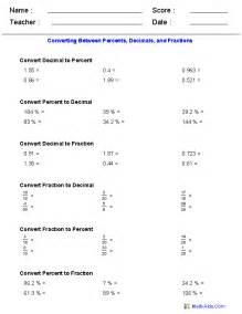 comparing fractions decimals and percents worksheets percent worksheets percent worksheets for practice