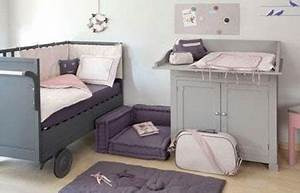 Couleur Chambre Bébé Fille : chambre bebe fille couleur taupe gris et rose ~ Dallasstarsshop.com Idées de Décoration