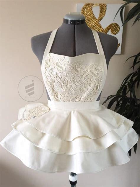 bridal shower ivory bride sexy apron bridal apron