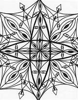 Coloring Kaleidoscope Pages Drawing Adult Printable Mandala Colouring Fairy Christmas Getdrawings Tea Popular sketch template