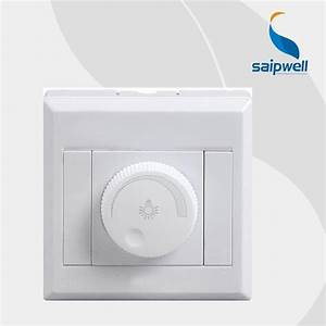 New Rotating Triac Led Dimmer Switch Wall Socket For Light