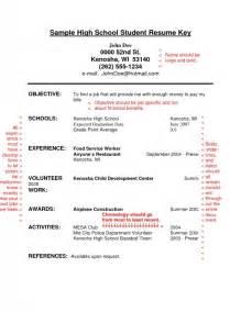 college student resume exles first job job resume exles for highschool students sles of resumes