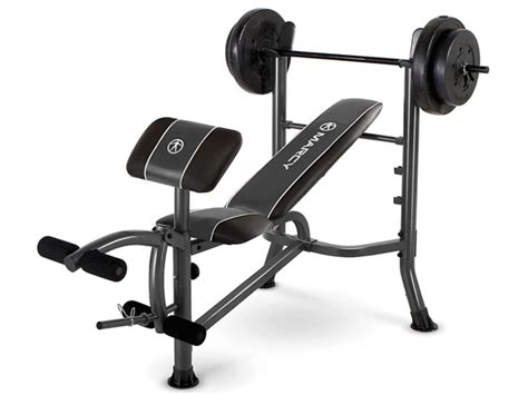 Marcy Standard Bench + 80lb Weight Set