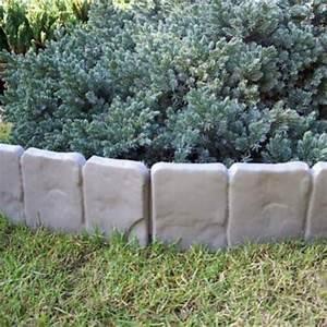 Steine Für Beeteinfassung : 2 5 meter garten palisaden beetumrandung grau stein optik retro beeteinfassung ~ Orissabook.com Haus und Dekorationen