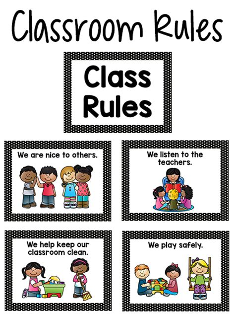 classroom rules template pre k classroom rules prekinders