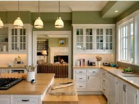 Green Cabinet Kitchen Fortikur Modern Kitchen Paint Colors With Oak Cabinets
