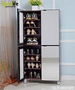 Grand Meuble Chaussure : grande armoire de rangement pour des chaussures pour le stockage avec portes miroir ~ Teatrodelosmanantiales.com Idées de Décoration