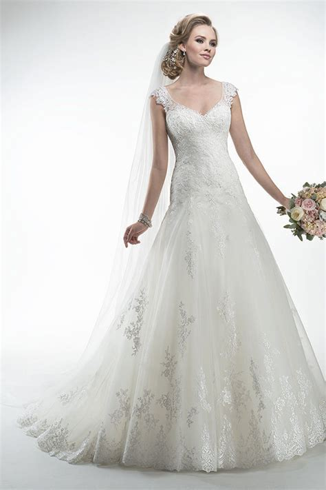 Wedding Dresses by See Through V Neck Wedding Dress Drop Waist A