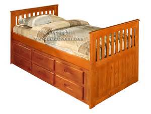 discovery world furniture honey captains bed with 6 six