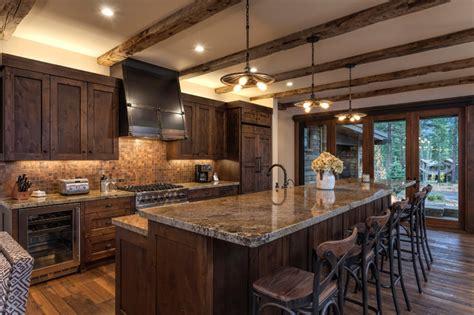 brown tile backsplash lot 326 martis c rustic kitchen sacramento by