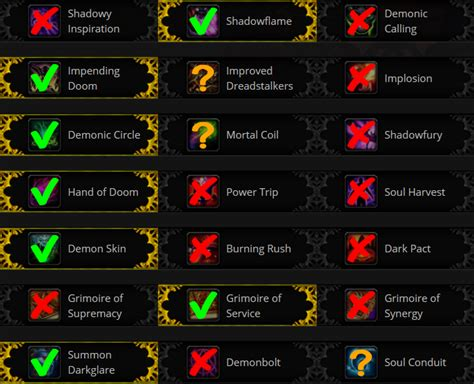 warlock talents demonology pvp honor skill addons damage guide burst patch enchants gear