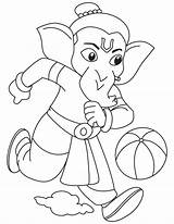 Ganesha Ganesh Coloring Lord Drawing Playing Pages Drawings Sketch Colouring Cartoon Painting Sketches Simple Ganapati Sheets Cute Paper Outline Elephant sketch template