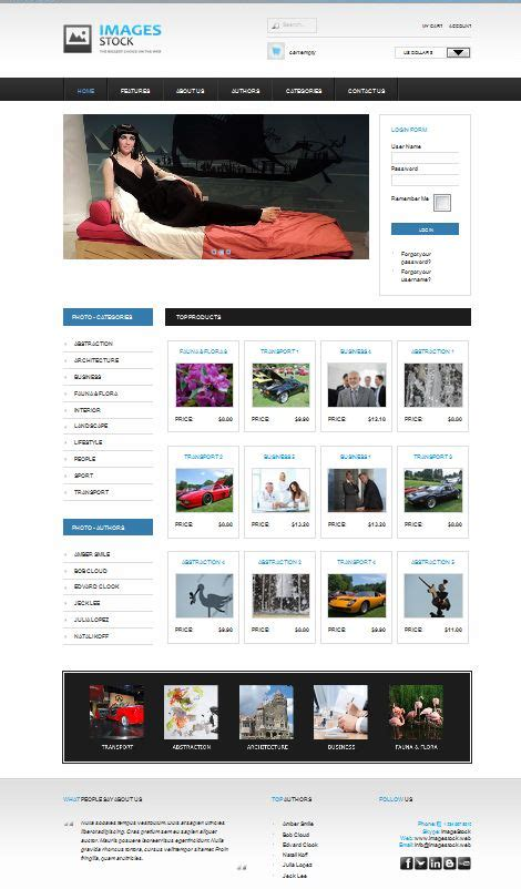 Black Responsive Joomla Template by 12 Best Website Template And Themes Images On Pinterest