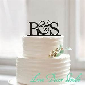 cake topperbride and groom initial cake topper wedding With wedding cakes with letter toppers