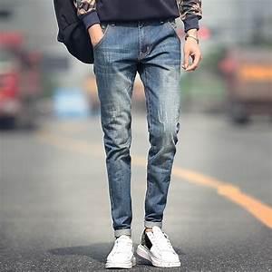 Aliexpress.com  Buy New designer straight jeans men fashion men jeans classical scratched slim ...