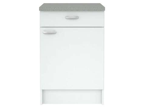 element bas de cuisine elément bas cuisine l 49 5 cm casa coloris blanc vente