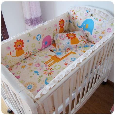 baby cot drapes promotion 6pcs baby bedding set cotton curtain crib