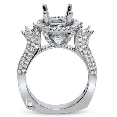 stone  halo engagement ring  ct center stone