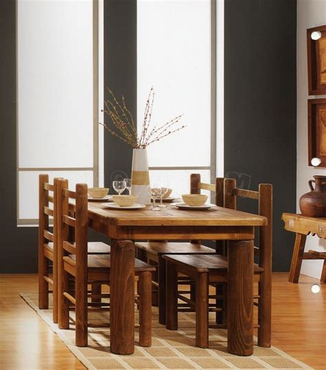 comedor rustico en madera kitchendinning room ideas