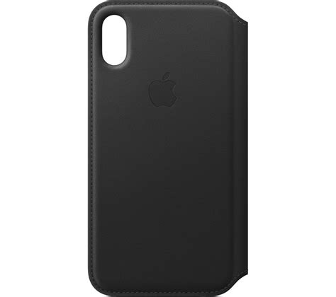 apple leather iphone apple leather folio iphone x black deals pc world