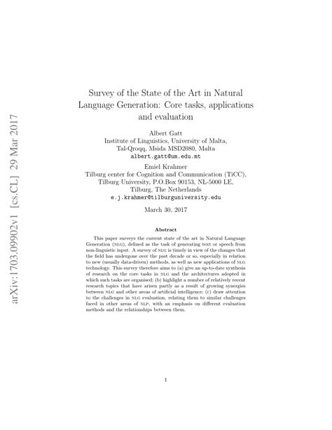 (PDF) Survey of the State of the Art in Natural Language