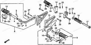 Honda Motorcycle 1982 Oem Parts Diagram For Footpegs