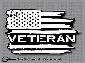 Us Veteran American Flag Army Navy Marines Air Force Vinyl