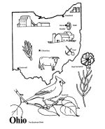usa printables state  ohio coloring pages ohio