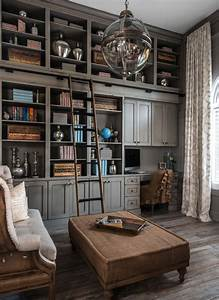 Home Office : 28 dreamy home offices with libraries for creative inspiration ~ Watch28wear.com Haus und Dekorationen