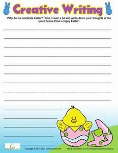 Easter Creative Writing #3   Creative writing, Worksheets ...