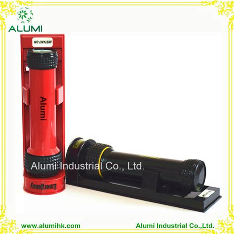 china hotel wall mounted rechargeable led torch flashlight