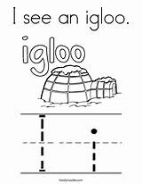 Igloo Coloring Letter Pages Noodle Twisty Cursive Starts Outline Ii Twistynoodle Letters Ll sketch template