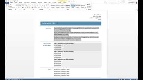 how to create a resume on microsoft word 2007 how to create a resume in microsoft word