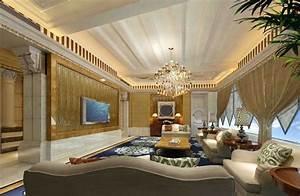 classic luxury living room interior villa With luxury interior design living room