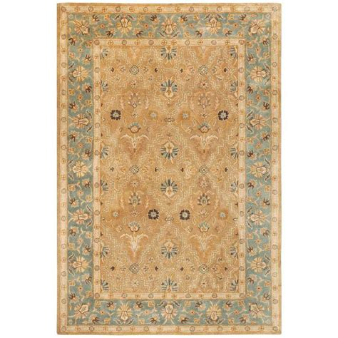 rugs home depot home decorators collection menton gold blue 4 ft x 6 ft