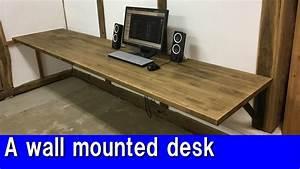 Diy, A, Wall, Mounted, Desk