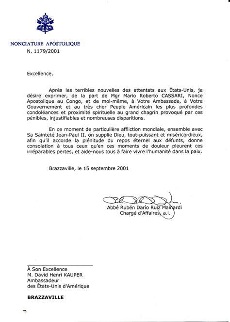 sample condolence letter   ambassador