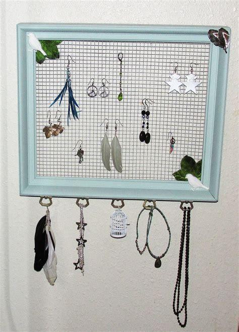 vintage frame  chicken wire jewelry organizer