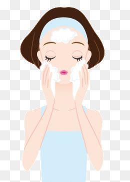 护肤美妆卡通美女洗脸敷面膜素材图片免费下载_高清装饰图案psd_千库网(图片编号1161367