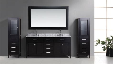 72 Quot London Double Sink Vanity Set In Espresso With Two