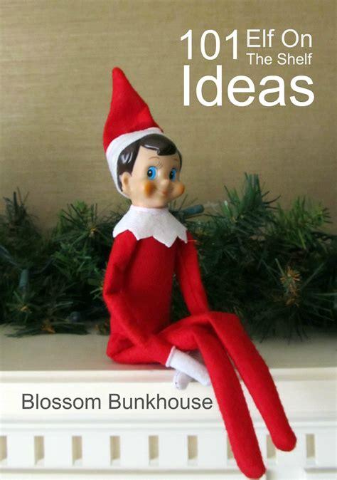 elf on the shelf 101 on the shelf ideas