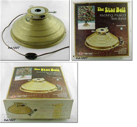star bell revolving musical xmas tree holder trees color wheels