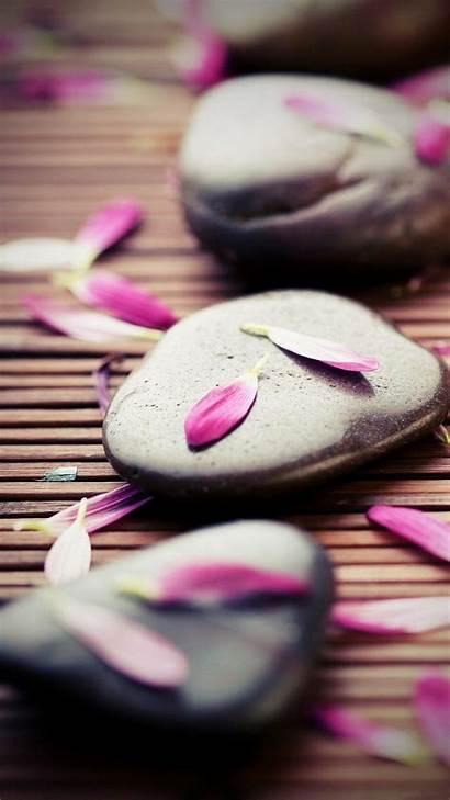 Iphone Zen Pink Wallpapers Plus Petals Stones