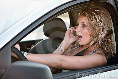 calling mobile phone  driving car stock image image