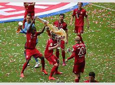 Bayern Munich celebrate Bundesliga title with beer soaking