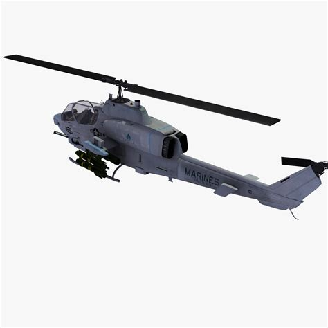Ah1w Cobra Attack Helicopter 3d Models