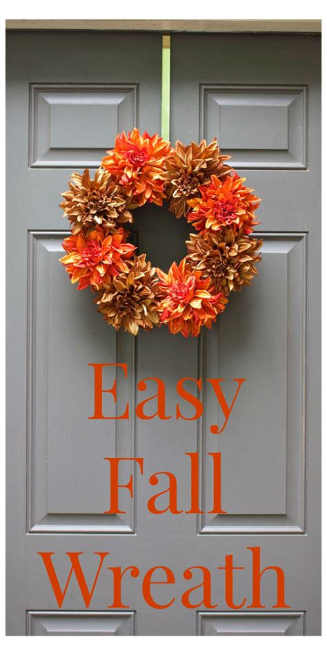 simple fall wreath easy fall wreath 2 bees in a pod